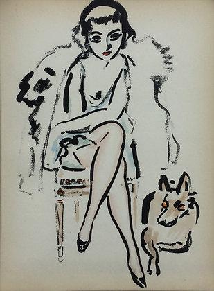C3988, Kees van Dongen, Femme au chien