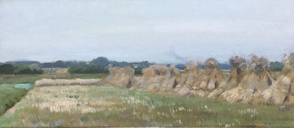 C3741, Cornelis Vreedenburgh, Korenschoven nabij Laren