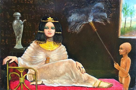 C4661-6, Jean Thomassen, Egyptische vrouw met dienaar