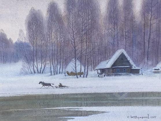 C4710-7, Sergei Kupriyanov, Winters landschap