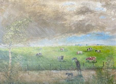 C5072-9, Eberhardt, Koeienweide in de regen