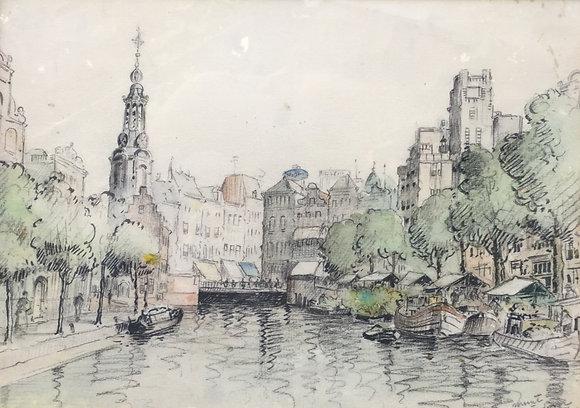 C3939, Muntkade Amsterdam, ongesigneerd