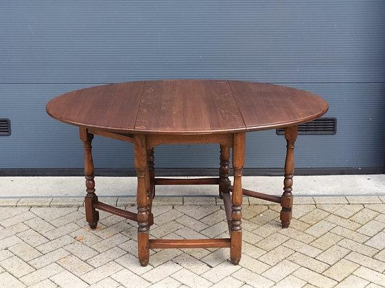 WS00170, Uitklapbare tafel, Gate-leg, eikenhout