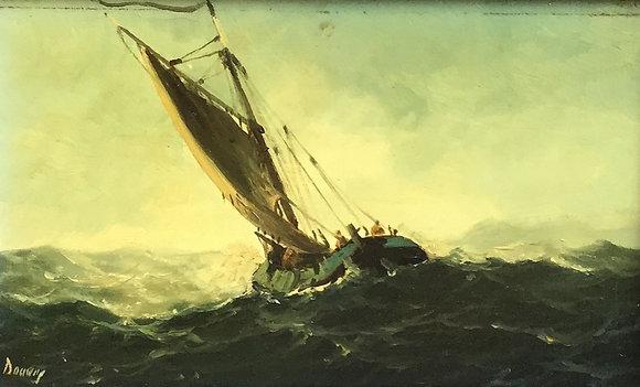 C4856-4, Zeilschip op woeste zee