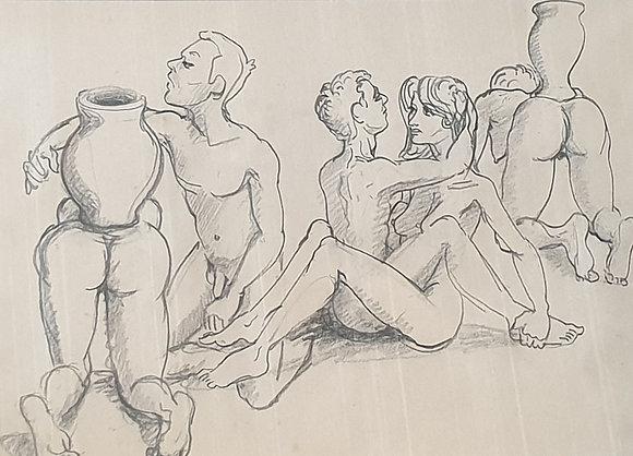 WS00116, Thomas Bernstein, erotische voorstelling met keramiek