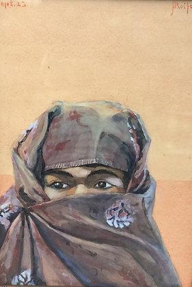 C3573-3, Reifenberg, Vrouw met hoofddoek