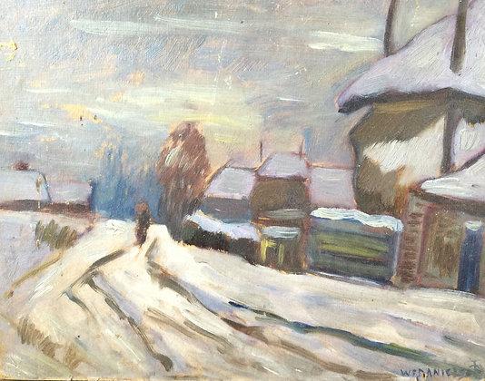 9858-4, Willem Frederik Daniels, Boerenpaadje in de winter