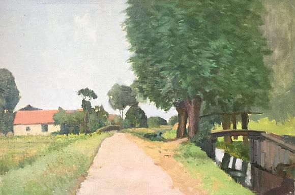C4149-18, Jacob de Heer Kloots, landweggetjelangs boerensloot