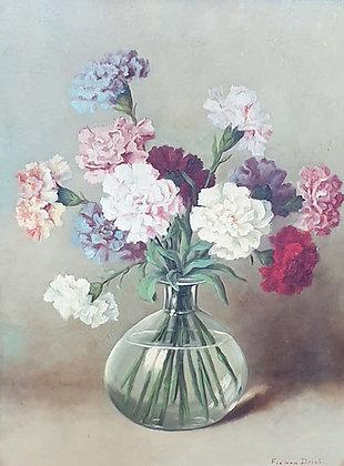 WS00117, S. T. van Driel, pseudoniem Tilly Moes, bloemstilleven met anjers