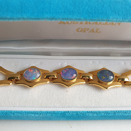 WS-C007-A1, Australian Opal, armband, ruitvorm