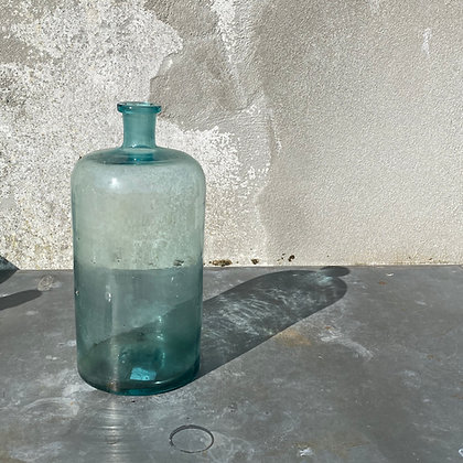 B8432-1, Grote groene fles, 38 cm hoog