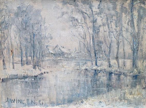 9051, Jan Wingen, Winter in het Zuiderpark