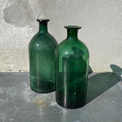 WS00056, Groene fles 33 cm hoog, prijs per stuk