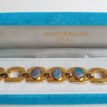WS-C007-A2, Australian Opal, armband, vierkant