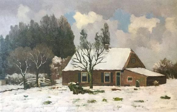 C4149-20, Jacob de Heer Kloots, boerderij in de winter