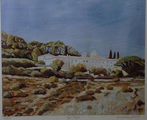 B2708-4, Henk van Delft, Mediterraans landschap met huis
