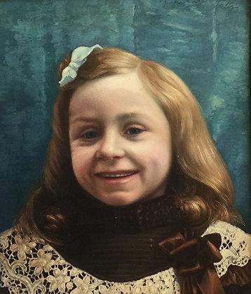 """C3749-19, Portret """"onze kleine lieve Nelly"""", ongesigneerd"""
