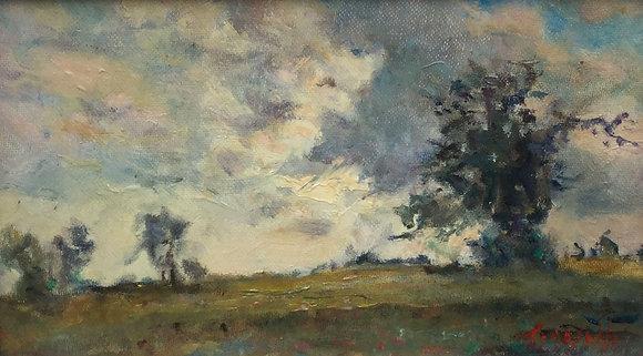 C4122A-5, Kunstenaar onbekend, Wijds landschap