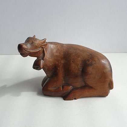WS00179, Houten koe, ca. 10cm hoog