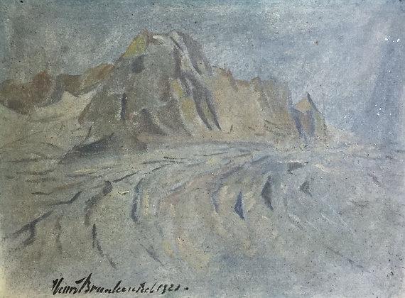 A9565-3, Henri Braakensiek, landschap in blauwtinten