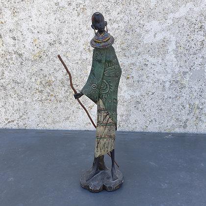 WS00076, Afrikaanse vrouw, houten beeldje