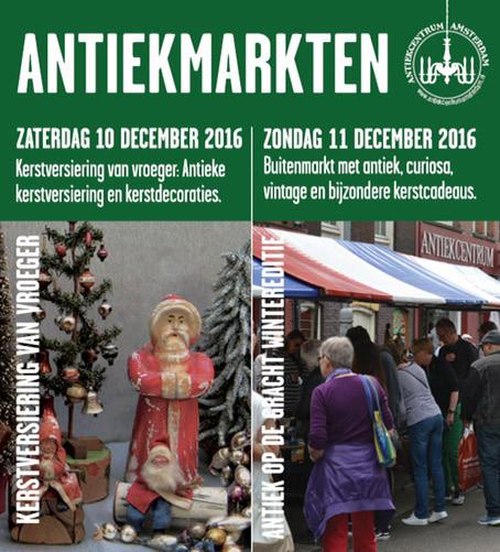 Kerstmarkt in Amsterdam, op de Elandsgracht: 11 december