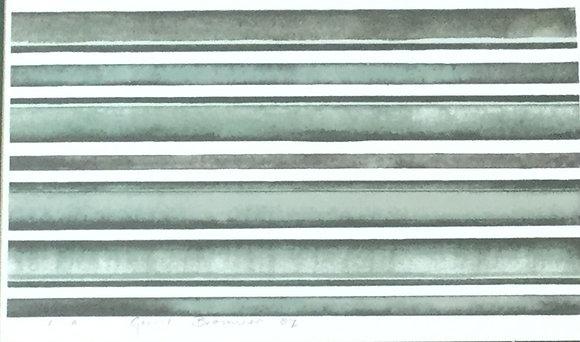 C3340-4, Gerrit Brouwer, abstracte compositie in groen