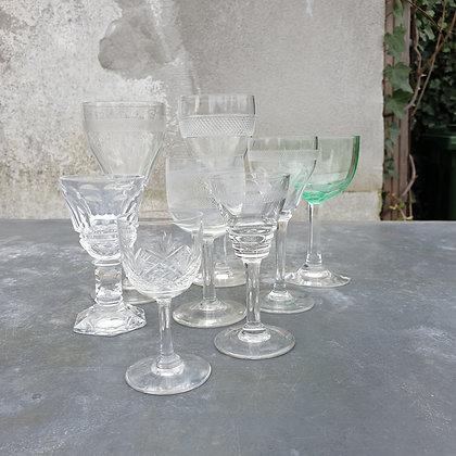 WS00026, Hollandse glazen, kristal, 19de eeuws, p.st.