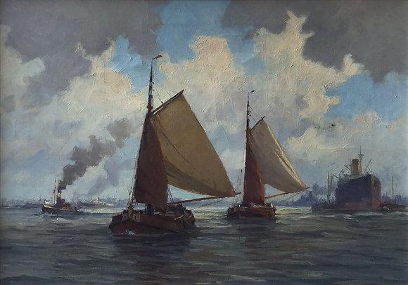 C3665, G. Wiegman, Beurtvaarders op de Maas voor Rotterdam