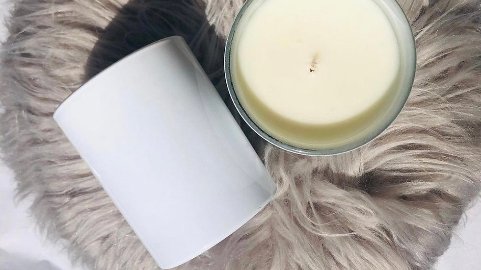 White gloss 30cl candle