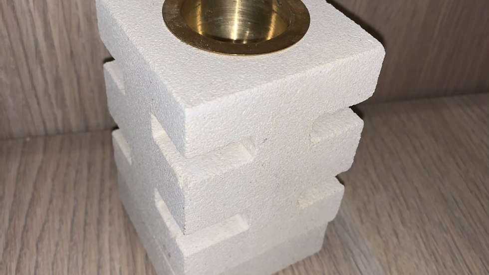 Stone cube wax burner