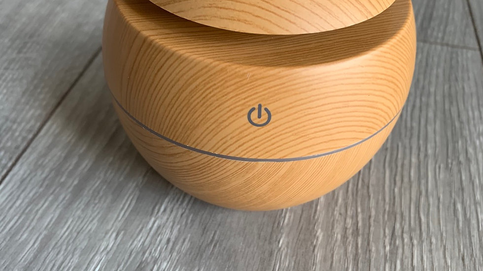 Small Wood Effect Round Aroma Diffuser
