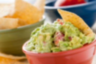 Guacamole and Chips - A studio shot of h