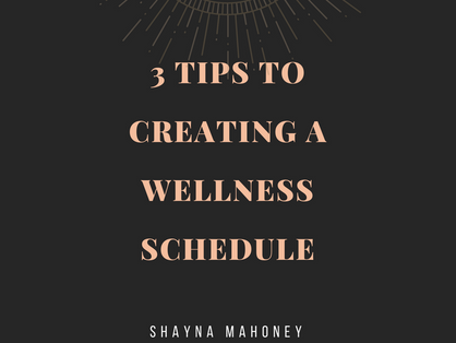Creating a Wellness Schedule