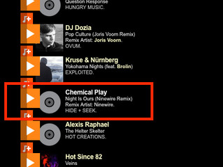 CHEMICAL PLAY AIRED ON BBC RADIO 1 PETE TONG SHOW - ESSENTIAL SELECTION