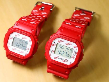 【カシオ】入荷G-SHOCK Gショック ベビーG 腕時計 ペア ラバコレ ラバーズコレクション 2020 レッド&ホワイト    ★ LOV-20B-4JR