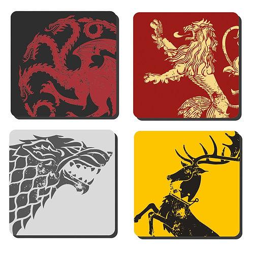 Game of Thrones Set of 4 Sigil Coasters