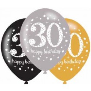 Age 30 Latex Balloons