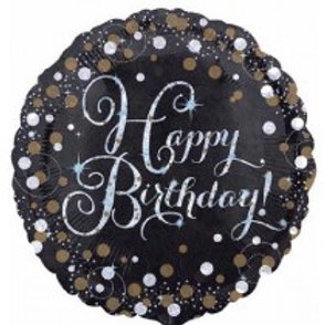 Gold Sparkles Birthday Foil Balloon