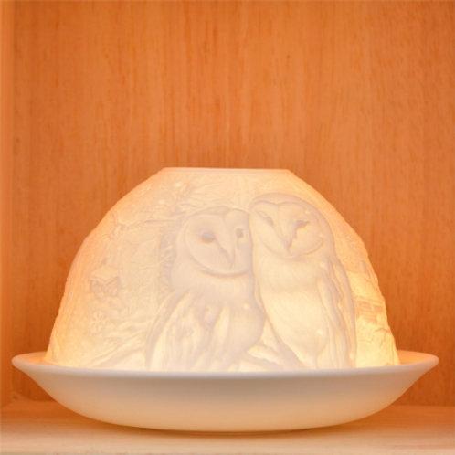 Nordic Lights Candleshade T-Light Holder - Owls