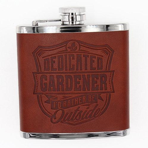 Personalised Hip Flask - Dedicated Gardener