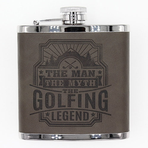 Personalised Hip Flask - The Golfing Legend