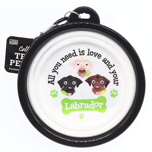 Wags & Whiskers Travel Pet Bowl - Labrador