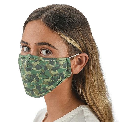 Green Camo Face Mask