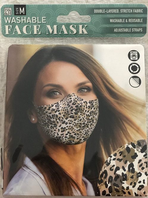 Abstract Leopard Face Mask (M) - 0010