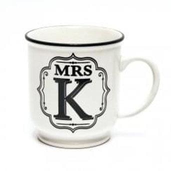 Alphabet Mugs - Mrs K