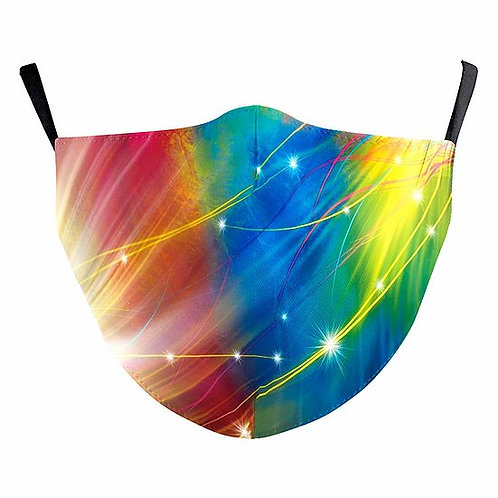 Rainbow Twinkles Reusable Face Mask