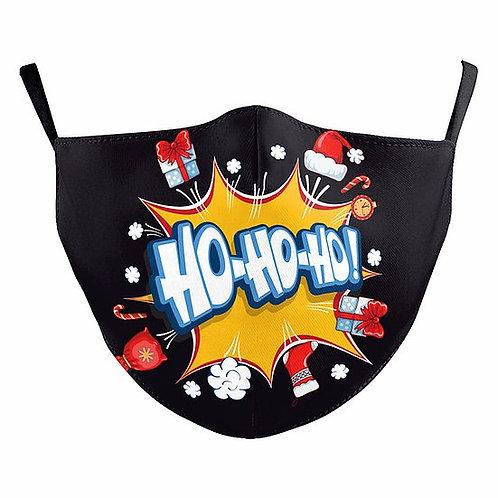 Bursting Ho Ho Ho Reusable Face Mask