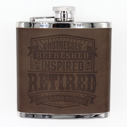 Personalised Hip Flask - Retired