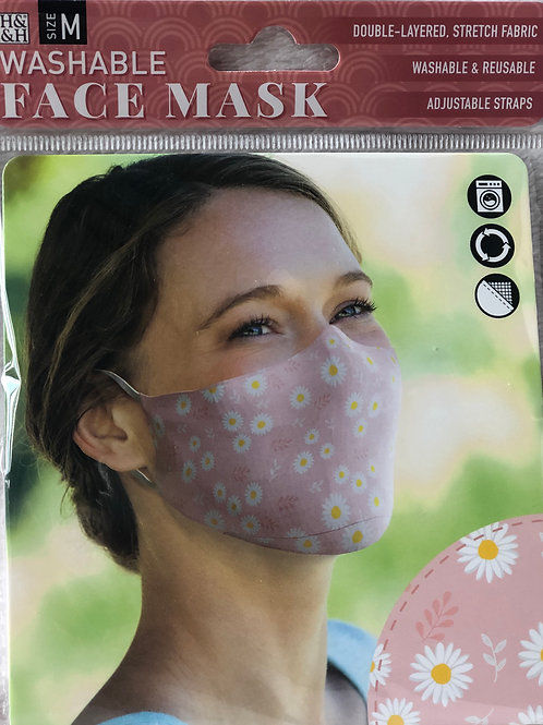 Daisy Pink Face Mask (M) - 0002